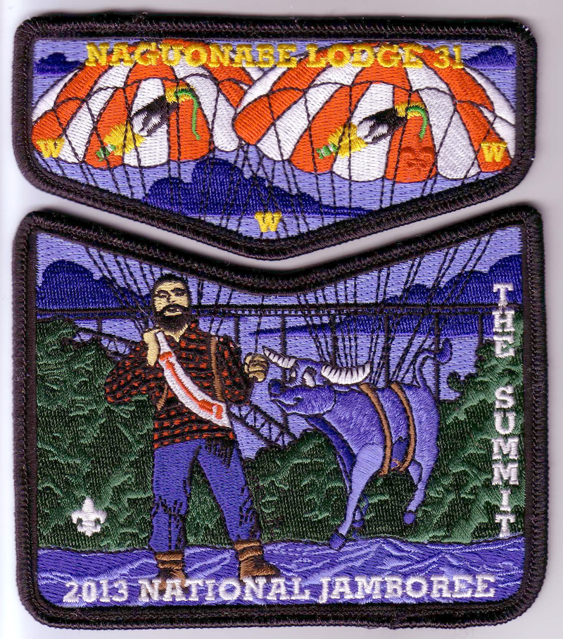2013 Naguonabe Lodge National Jamboree Patch Set, Order of the Arrow